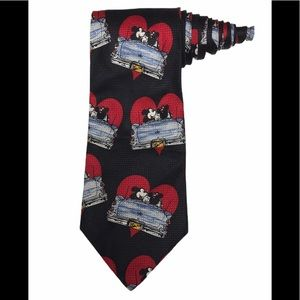 Disney Mickey Minnie Mouse Hearts Valentines Tie